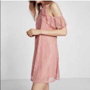 Express Cold Shoulder Lace Dress